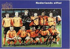 Holland Netherlands Dutch Team Hand Signed Promo Photo Hasselbaink & Van Der Sar