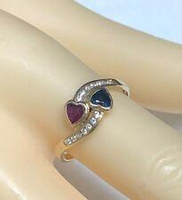 Ring Ruby, Sapphire & Brilliant 585er Gold #57