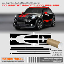 Mini Cooper JCW Countryman 2013-2018 decal set for Hood Side Trunk