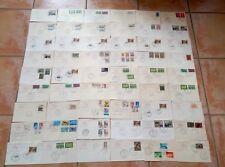 LOT DE 54 ENVELOPPES FDC PREMIER JOUR ITALIE (COLLECTION POSTE ITALIANE)