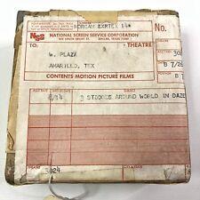 3 Stooges Go Around The World In A Daze Original 35 MM Movie Trailer Reel 1963