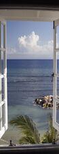 """Infrarotheizung Glas rahmenlos, 250 Watt lang, Motiv """"Fenster"""""""