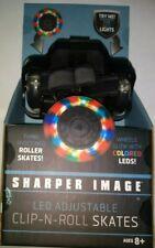 Sharper Image Colored Led Wheel Adjustable Clip-N-Roll Skates New