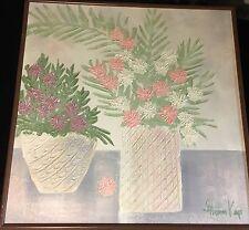 Vintage 80's Framed Signed Stephen Kaye Impasto Oil on Canvas Painting