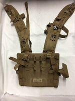 USMC FILBE Shoulder Straps for Main Pack, Coyote**Damaged**NEEDS TLC