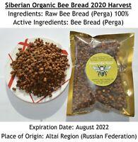 FRESH SIBERIAN Bee Bread 1.65 Lb (750 Gms) Organic 2020 Harvest; Pollen Перга