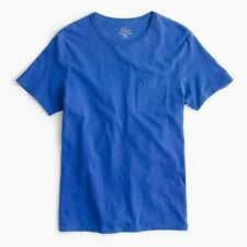 J. Crew Garment-dyed Men's Pocket T-shirt Made in USA Blue Tee NEW L