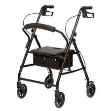 NEW Lightweight Aluminum Cardinal Rollator Foldable Walker With Wheels Soft Seat