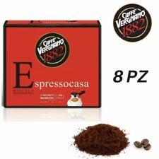 4 Kg Caffè VERGNANO Macinato Espresso Casa - 8 Confezioni Bipack Da 500 Gr