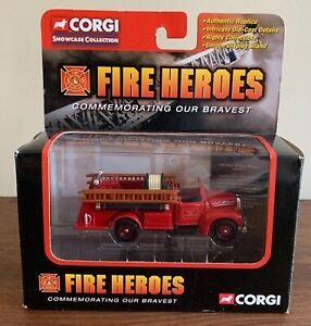 NEW CORGI Boston Fire Dept  B- Mack Open Cab Fire Heroes Series Model CS90011