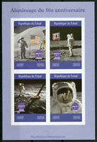 Chad 2019 MNH Moon Landing Apollo 11 Neil Armstrong 4v IMPF M/S Space Stamps