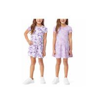 NWT 32 Degrees Kids Girls Dress Sz 6 Tie Die Lavender Flower 2 pack Ship FREE!