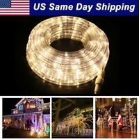 LED Rope Light 2 Wire Flexible Outdoor Xmas Décor Custom Length Warm White