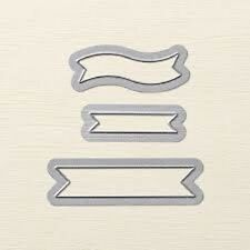 Stampin Up Sizzix Bitty Banners Framelits Dies - New - Set of 3