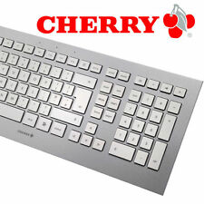 CHERRY STRAIT Corded Keyboard / Tastatur (DE) USB ultraflach white silver - NEU