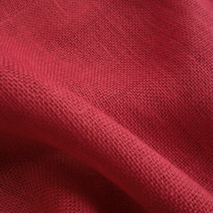 RED  Hessian Fabric Soft Jute Cloth Material 90cm Wide Sold Per Mtr UK Stock