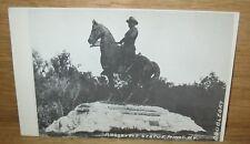 Vintage Theodore Roosevelt Statue Minot Nd Postcard