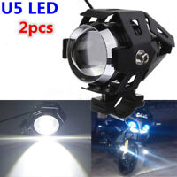 2x 125W U5 Motorcycle LED Headlight Driving Fog Lights Spot Lamps High Quality