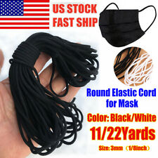 3/6mm Round Elastic Band Cord Ear Hanging Sewing Crafts DIY 10 Yards Length US