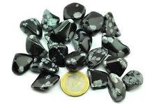 Lot pierres roulées obsidienne mouchetée  - Taille small 80g+ - 20 pièces