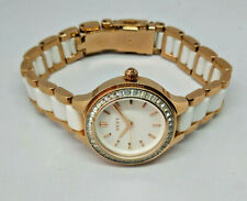 Ladies DKNY White & Rose Gold Tone Chambers Watch NY-2496