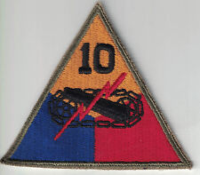 WWIIUS Army Original 10th Armored Division SSI Patch Cut Edge No Glow