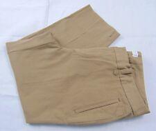 DOCKERS Women's Lt. Brown Tab Waist Mid Rise Tapered Vented Cuff Capri Size 12