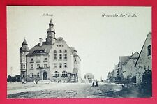 AK GROSSRÖHRSDORF in Sa. um 1910 Rathaus       ( 27340