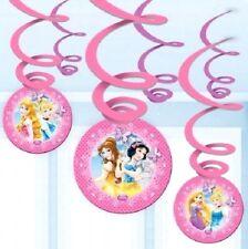 DISNEY PRINCESS  - SWIRLS - 6 HANGING DECORATIONS - Snow White,Cinderella etc.