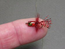 Tiny Bluegill poppers! - red - bluegill sunfish perch flies
