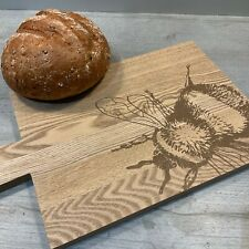 More details for wooden bumble bee bread serving board kitchen country vintage wood