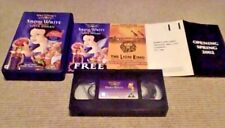 Snow White And The Seven Dwarfs WALT DISNEY CLASSIC UK PAL VHS VIDEO Remastered
