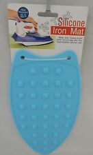 "New Heat Resistant Silicone Iron Rest Pad Mat 10"" x 5½"" 25 x 14cm 500°F Blue"