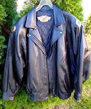 Women's Original Harley-Davidson Black Leather Jacket. Size M/W. Made In Korea.