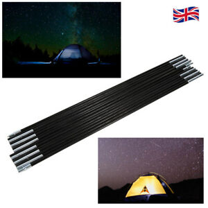 2 Pack Replacement Tent Canopy Tarp Poles Support Frame Rods Camping Hiking UK