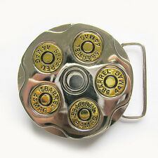 Men Belt Buckle Gun Bullet Spinner Spinning Belt Buckle also Stock in US