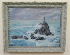 Bild Antike Malerei Öl Marina Landschaft Meer Stil Impressionist BM51