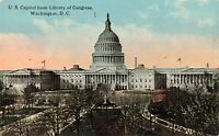 Postcard US Capitol from Library of Congress Washington DC