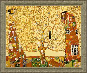 The Tree of Life by Gustav Klimt 85cm x 72cm Framed Ornate Silver