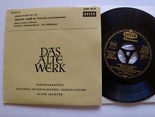 "PIERRE FOURNIER & KARL MUNCHINGER: Vivaldi cello concerto - 7"" EP DECCA AWD 8515"