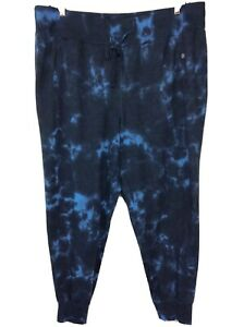 LIVI Active Lane Bryant Metro Jogger Tie Dye Blue 18/20 NEW