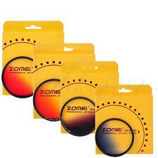 Zomei 40.5mm Slim Graduated Grey Blue Orange Red Lens Filter Kit for Canon Nikon