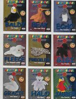 TY Beanie Babies SERIES 2 FOIL CARDS.  BLUE  FOIL PRINT    CHOOSE