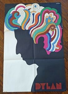 BOB DYLAN GREATEST HITS ORIGINAL MILTON GLASER POSTER 1967