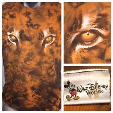 7bde10250 Rare Tie dyed WALT DISNEY WORLD Acid Animal Face Eyes Mens L Punk Steampunk
