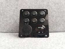 Switch Control Panel USB 12V/240V Volt Meter VW Campervan Motorhome Boat Marine