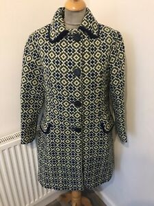 Vintage Fitted Welsh Tapestry Coat Size 12