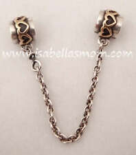 Authentic PANDORA Hearts SAFETY Chain 14K GOLD~Silver 925 Charm/Bead 790307-05