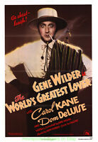 WORLDS GREATEST LOVER MOVIE POSTER ADVANCE B  27x41 GENE WILDER CAROL KANE 1977