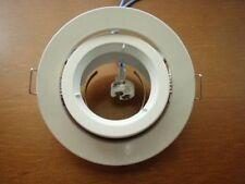 DOWNLIGHT FITTING HOLDER FOR LED LIGHTS MR16 GU5.3 White color Gimbal type